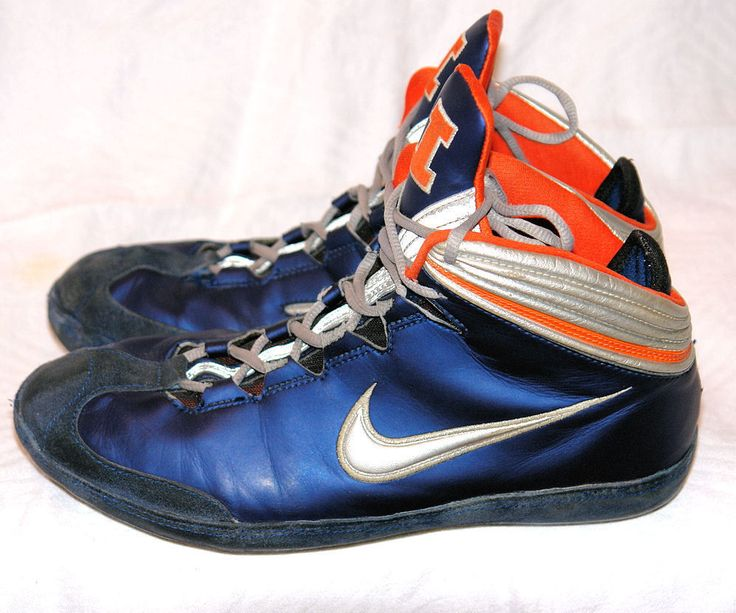 Rare nike illinois kolat il blue orange kolats wrestling shoes mens size 10  ten