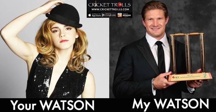 #cricket #Hollywood Emma Watson Shane Watson   How other's see WATSON & How Cricket fans see WATSON! http://ift.tt/2gINc2D - http://ift.tt/1ZZ3e4d