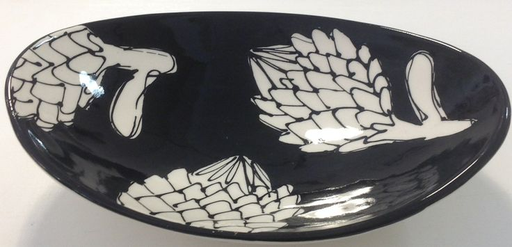 oval serving plate medium size