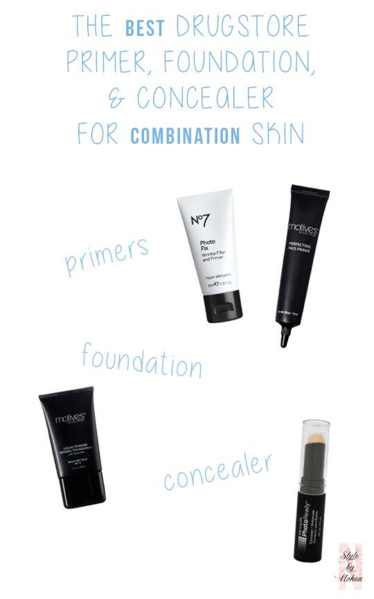makeup combination skin primer concealer foundation