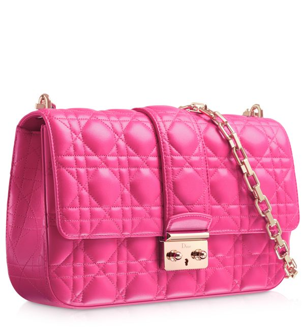 "Come to mama!!! LADY DIOR - Magnolia pink leather ""Lady Dior"" bag"