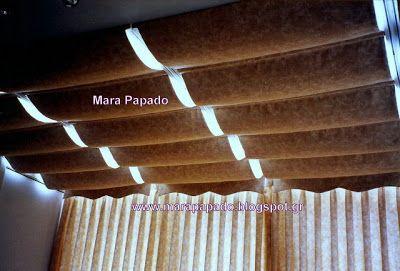 Interior design-curtains. Curtains decoration.Patterns of curtains. Mara Papado - Designer's workroom - Curtains ideas - Designs: Κουρτίνες, σχέδιο κουρτίνας ρόμαν οροφής