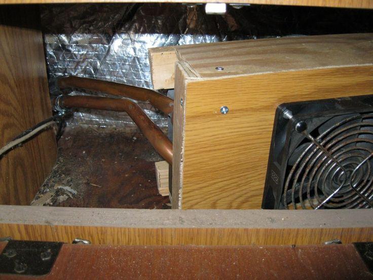 Homemade heater blower box installed boiler heating