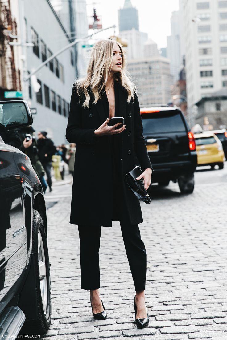 NYFW-New_York_Fashion_Week-Fall_Winter-17-Street_Style-Black_Outfit-Victoria_Secret_Angel-3