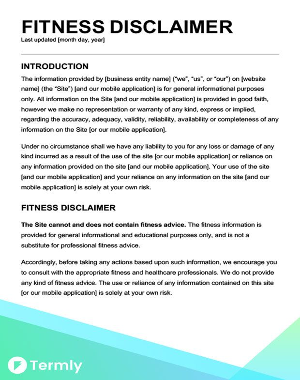 Sample Disclaimer Template Examples Free Download With Images