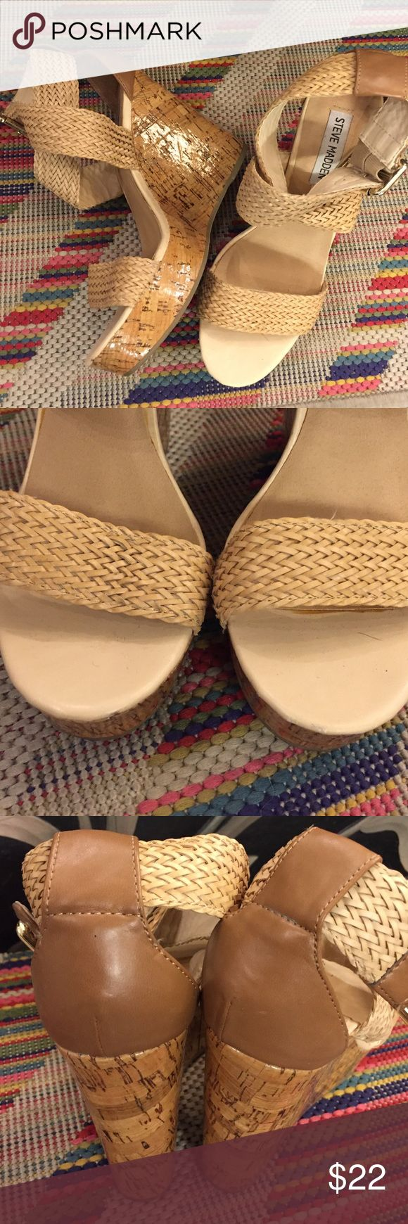 Braided weave wedge Excellent condition . Only the sole