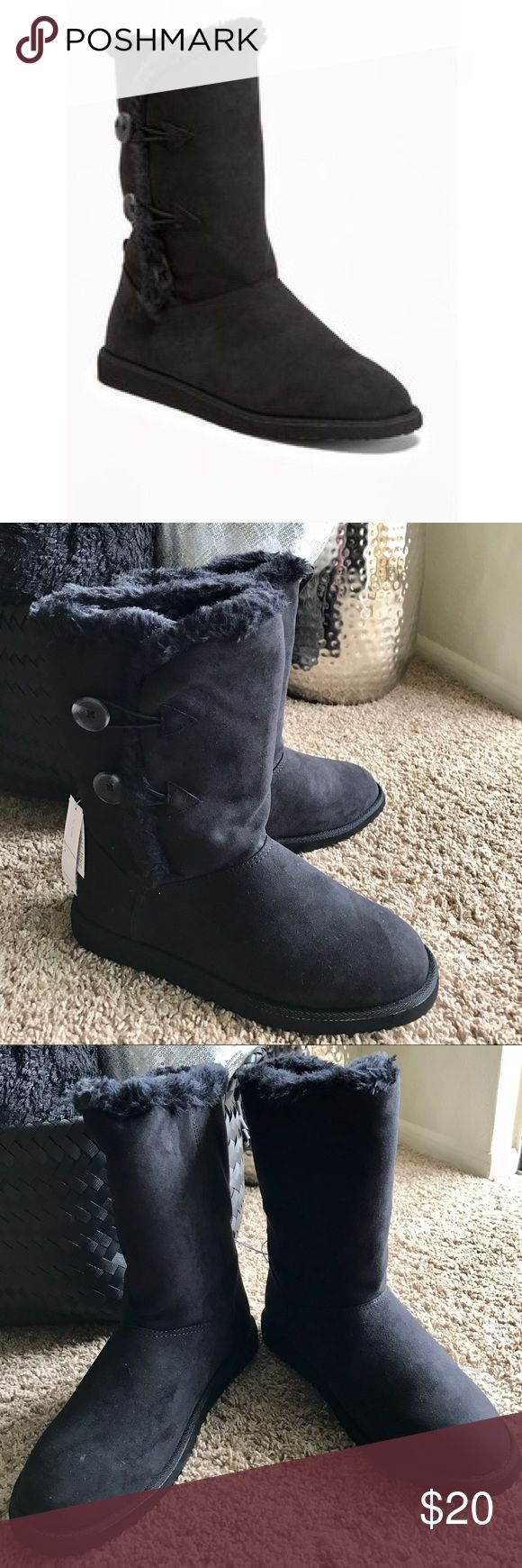 Old Navy Womens Tall Sherpa Lined Boots Old Navy Sturdy -4858