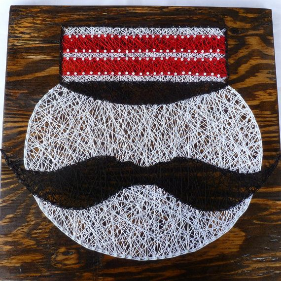Show off your Cincinnati Reds pride with this unique string art of a vintage Mr…