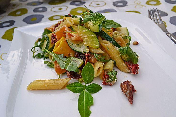 Chefkoch.de Rezept: 1a Sommer - Nudelsalat mit Honig - Senf - Dressing