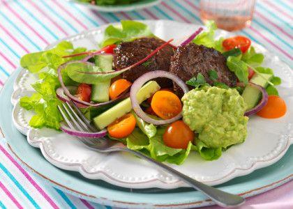 Tacobiffar med sallad och guacamole | MåBra - Nyttiga recept