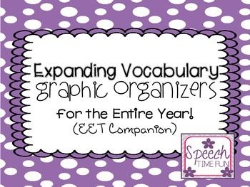 Work on expanding vocabulary and describing throughout the entire year with these graphic organizers!  Just print and use!Using this file:-Recommended to use with the Expanding Expression Tool (EET) by Sara L. Smith. (http://www.expandingexpression.com/).-A graphic organizer is used for the various seasons, holidays, and themes throughout the year.