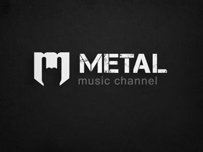 Cool metal music logo