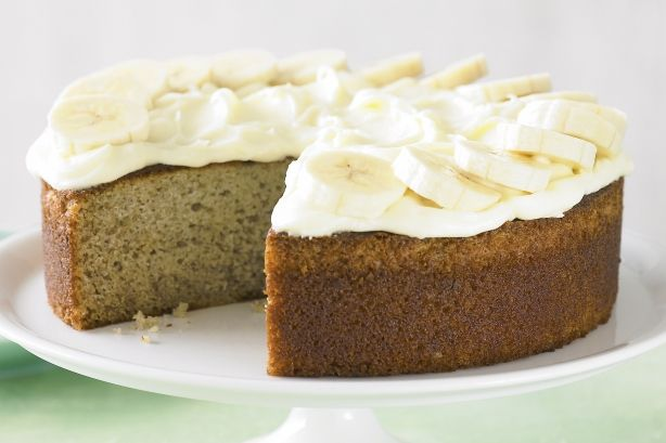 Banana cake with cream cheese frosting main image