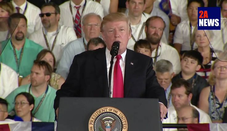 President Trump delivers stirring comments at the commissioning of the USS Gerald R. Ford.  President Trump delivers stirring comments at the commissioning of the USS Gerald R. Ford, Saturday July 22, 2017.  https://2anews.us/?p=6171  #Commissioning, #President_Trump, #United_States_Navy, #USS_Gerald_R_Ford, #Defense, #Videos