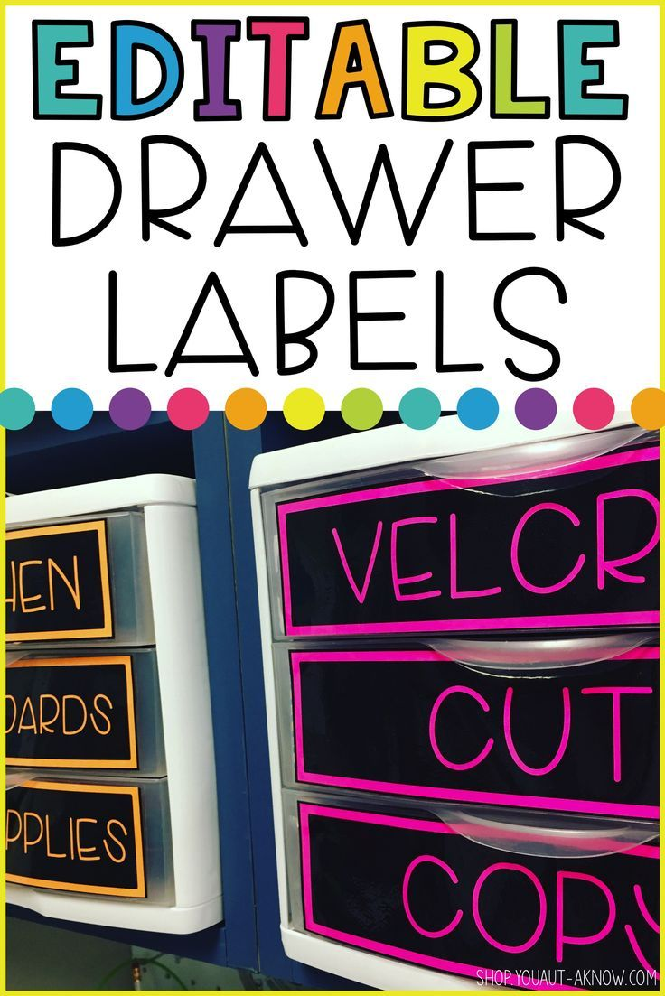 EDITABLE Drawer Labels for Classroom Group
