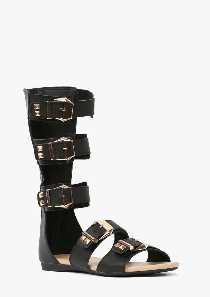 Buckled Up Gladiator Sandals!! Hot for Spring