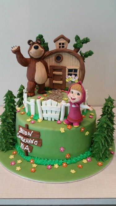 Masha and The bear cake orso
