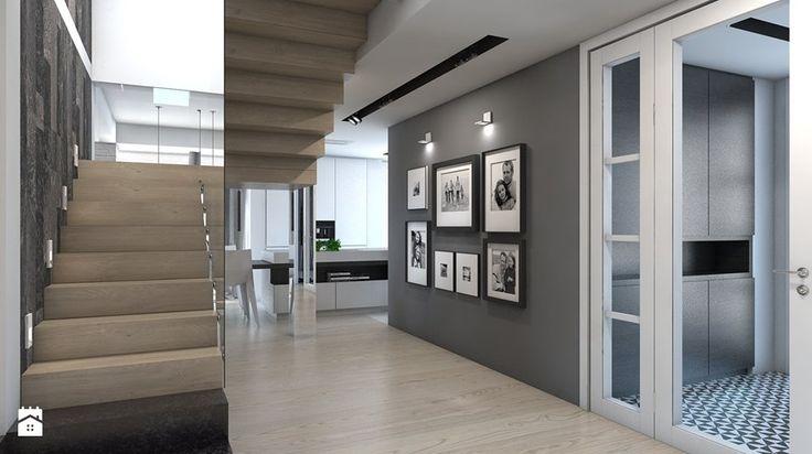 DOM JEDNORODZINNY / GLIWICE - Hol / przedpokój - zdjęcie od A2 STUDIO pracownia architektury