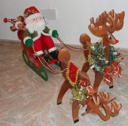 Adornos y muñecos de navidad, san nicolas, cojines, renos, de nieve, arbolitos
