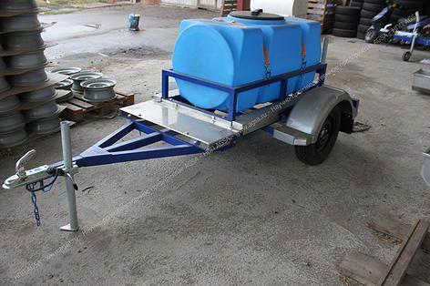 AGSA | Металлообработка | Металлоизделия | Москва и МО... | Специализированные прицепы с пластиковой емкостью 500 литров для перевозки воды.