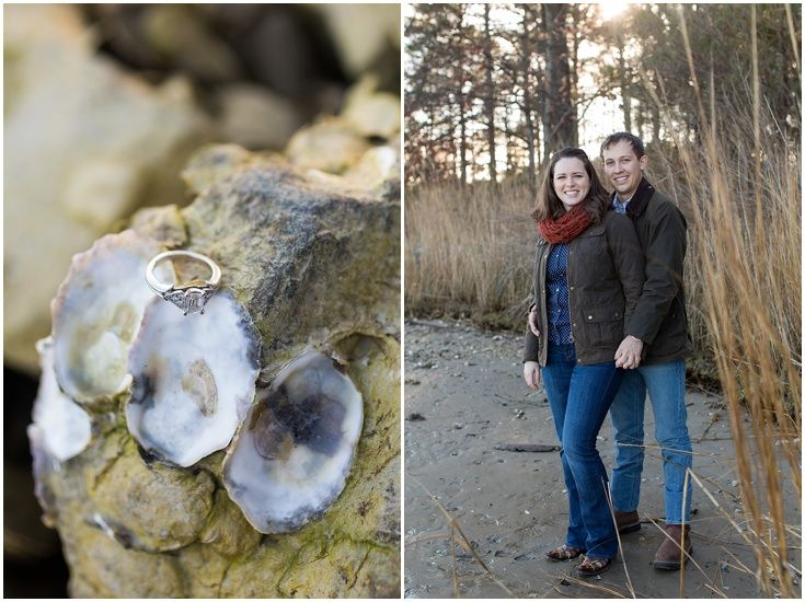 Oyster Shells. Engagement Session. Eastern Shore Maryland Wedding Photography. Laura's Focus Photography.