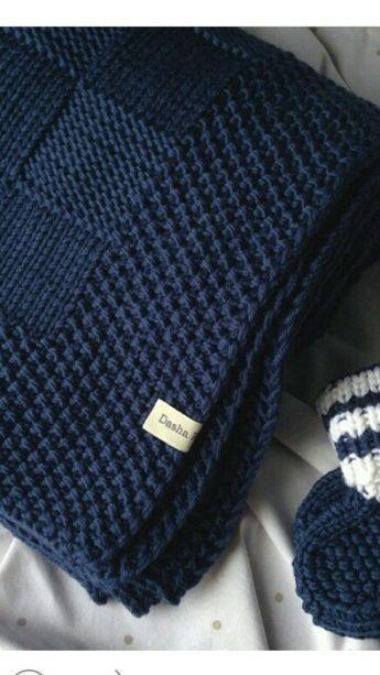 Ich liebe die Grenze zu dieser Decke #knittingpatterns