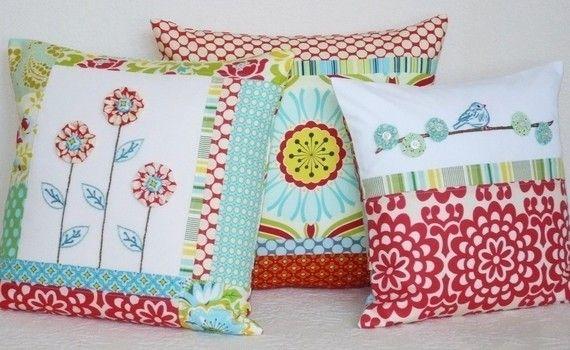 yoyo pillows - idea for yoyos
