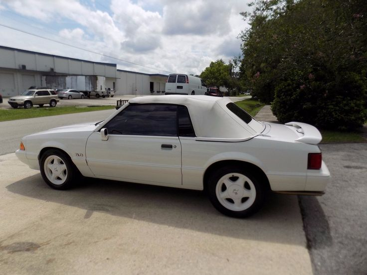 eBay: 1993 Ford Mustang LX convertible 1993 Ford Mustang Lx 5.0 Triple white convertible 47 k miles excellent condition #fordmustang #ford