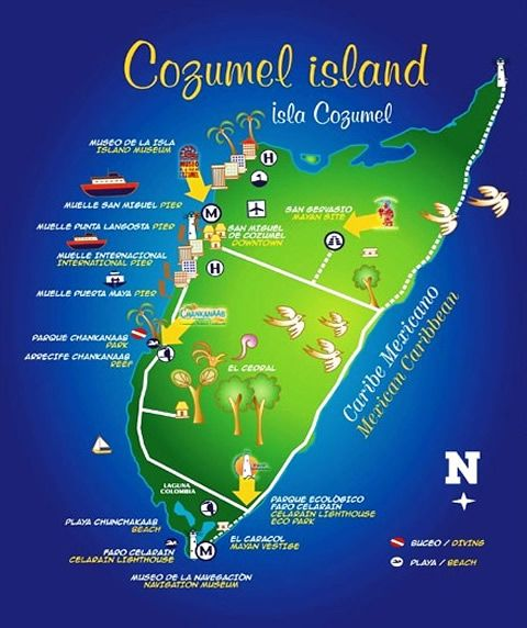 Cozumel    My favorite place to shop. Must haves are the vanilla, pottery and those Mexican blankets. Bring the husband, you'll need a pack mule.   From RCCL ship, you'll need to take a cab to The Forum Shops (jewelry, etc) and work your way to the other end.