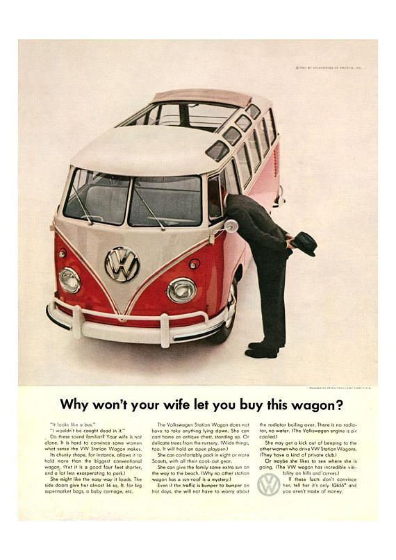 Vw Camper A3 Poster Print Why Wont Your Wife Let You But
