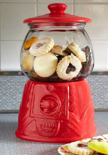 I need this! I've been waiting for the perfect red cookie jar and finally found it! #ModCloth