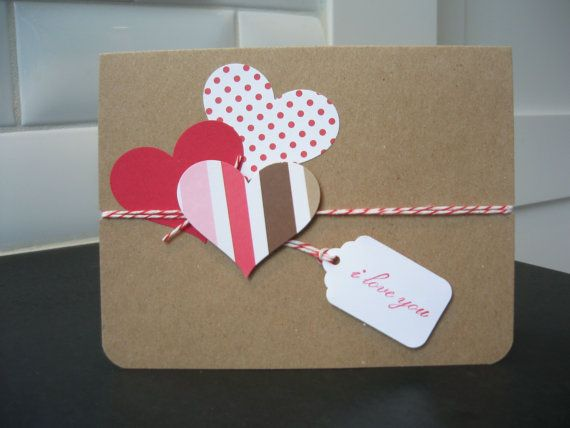 Valentine Card I Love You Card Anniversary Card by apaperaffaire, $2.50