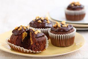 Chocolate-Peanut Butter Cupcakes recipe! Yum!