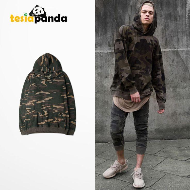 Kanye West Camo Camouflage Sweatshirt Hoodie T Shirt Hodded Long Sleeve Yeezus | eBay