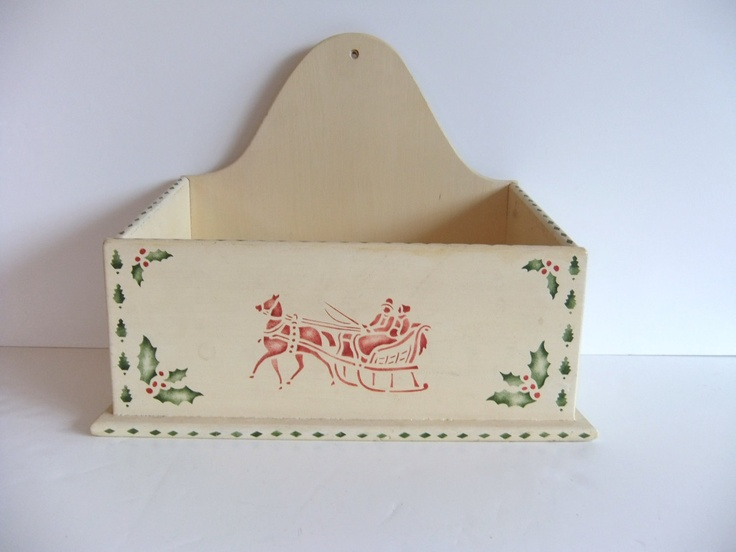 Vintage Wooden Box, Letter Box. $23.00, via Etsy.