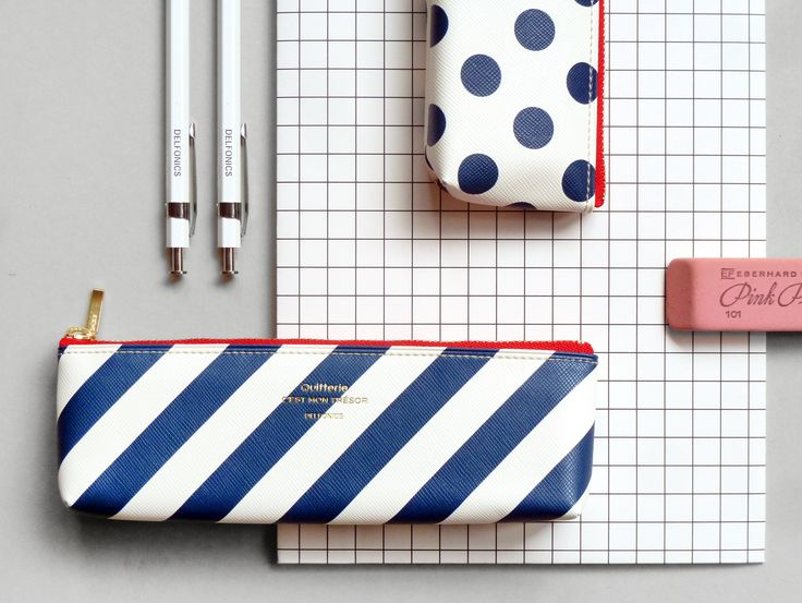 Stripes & Spots Pencil Case.