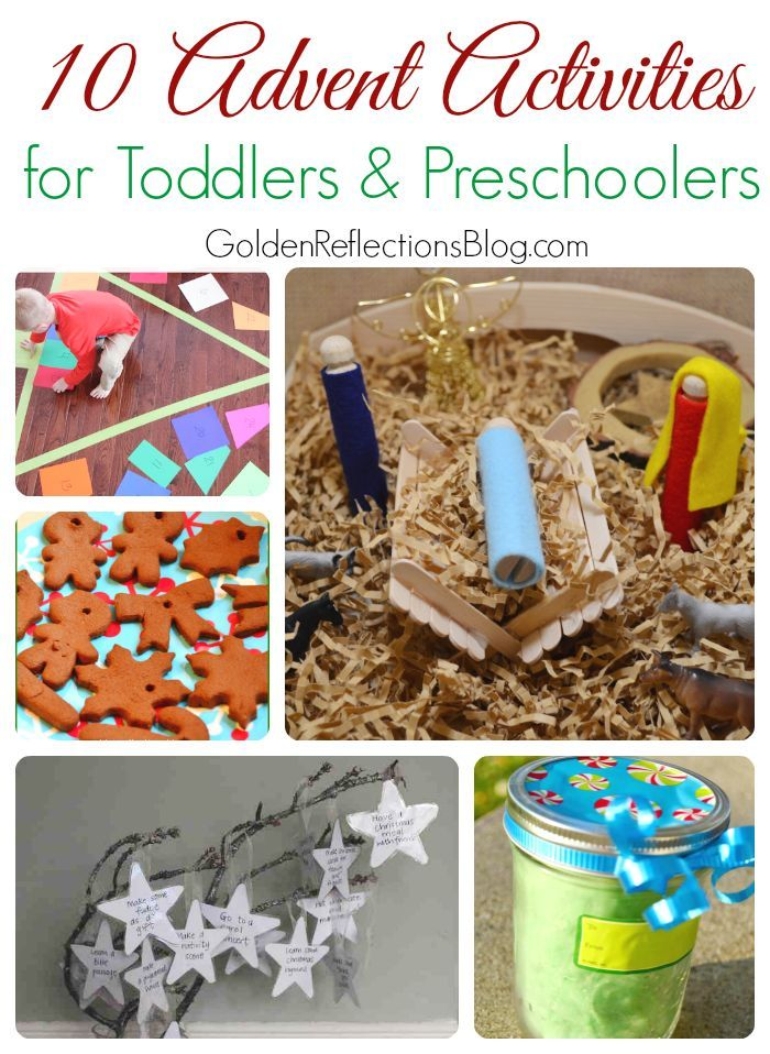 10 fun and easy Advent activities for toddlers and preschoolers. www.GoldenReflectionsBlog.com