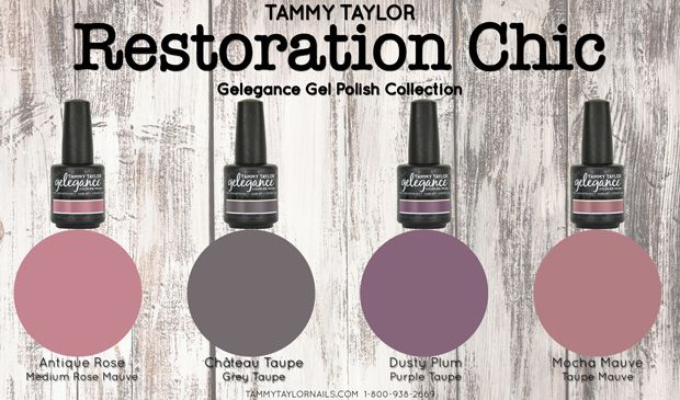 "♥ Tammy Taylor ""RESTORATION CHIC"" GELEGANCE GEL POLISH COLLECTION"