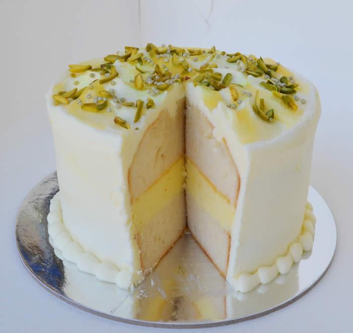 Lemon & White Chocolate Mousse Layer Cake