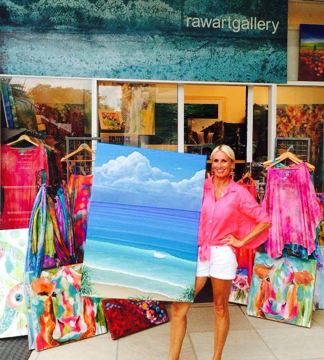 New Original Paintings rocking with New Janinelisa Silk Designs at RawArtGallery Sheraton Noosa