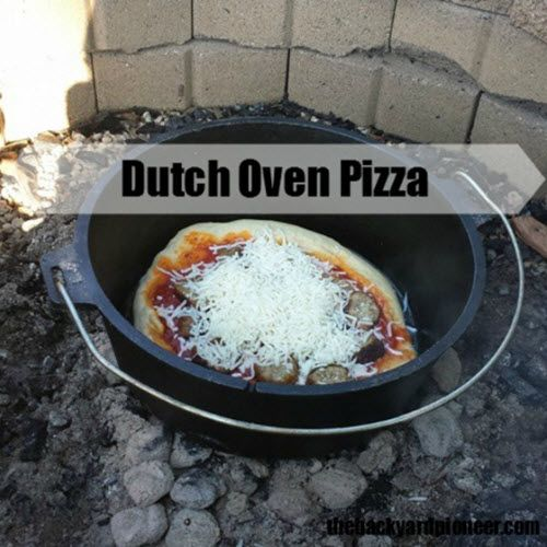 How to make dutch oven pizza http homestead and for What to cook in a dutch oven camping