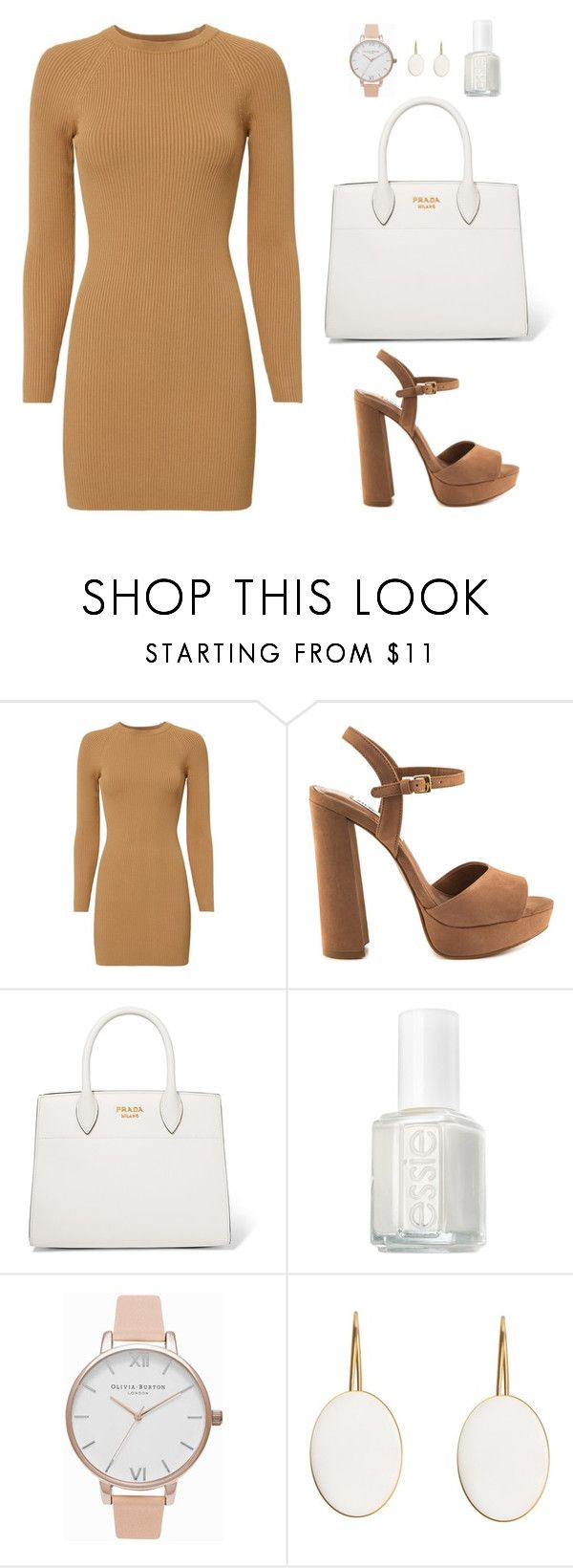 """""""Untitled #478"""" by hayleyl22 ❤ liked on Polyvore featuring A.L.C., Steve Madden, Prada, Essie and Olivia Burton"""