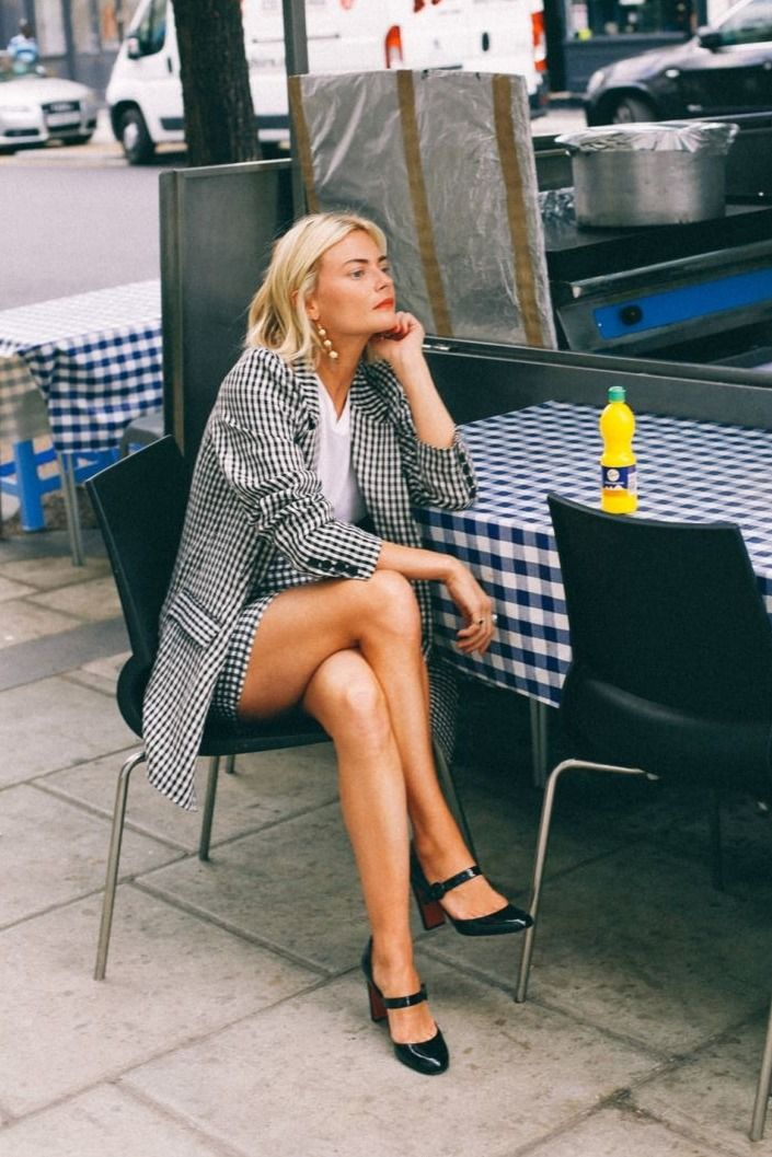 Avoid looking too corporate with a matching blazer and skirt combo. Add some summer flare with the season's favorite print: gingham.