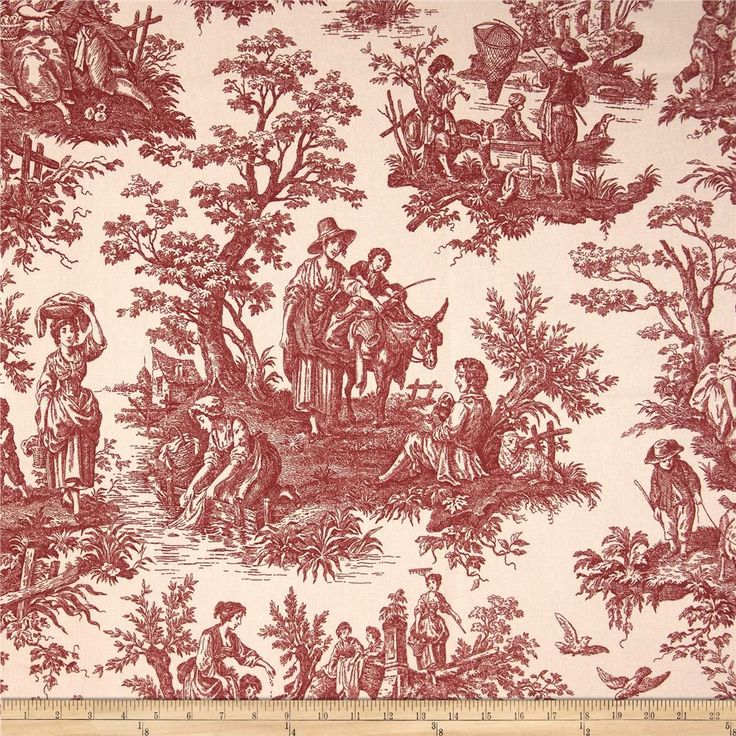 21 Best Toile Wall Paper Images On Pinterest: 27 Best Images About Waverly Fabrics For Red, Cream And