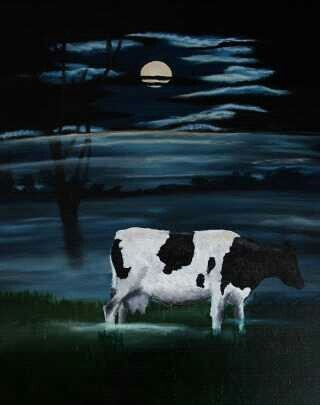 Cow in the fog made by Tirza Atsma - Hoornstra