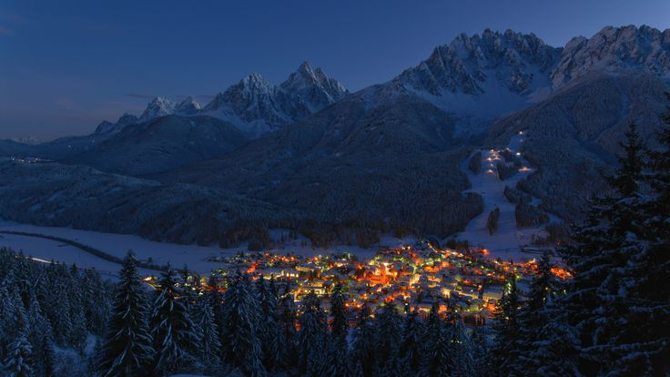 Innichen / San Candido in the Evening - Near Innichen, South Tyrol, Italy