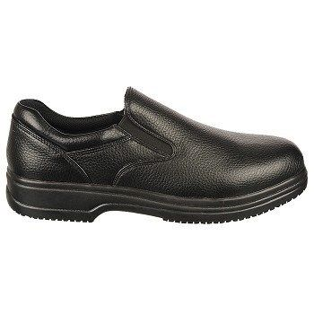 Deer Stags Mens DS Work Manager MediumWide Slip Resistant Slip On Shoes Black