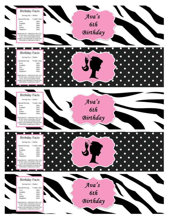 DIY Vintage or Modern Barbie Pink and by PinkMonkeyPartyPrint, $30.00