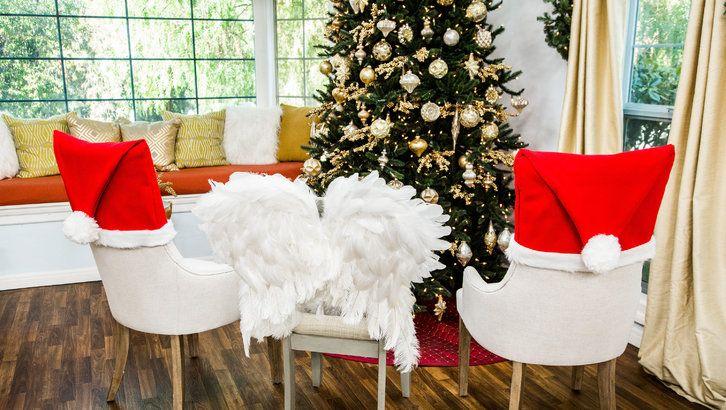 Diy Christmas Chair Covers Christmas Chair Covers Christmas