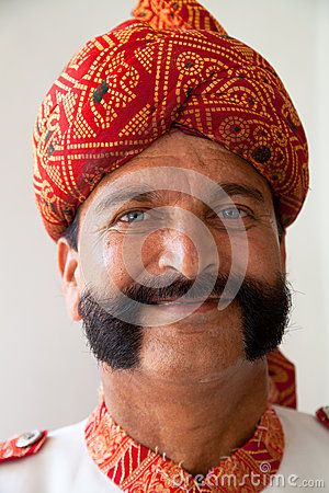 Indian Man With Handlebar Moustache - Download From Over 50 Million High Quality Stock Photos, Images, Vectors. Sign up for FREE today. Image: 25758086
